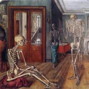 Paul Delvaux, Large skeletons, 1944